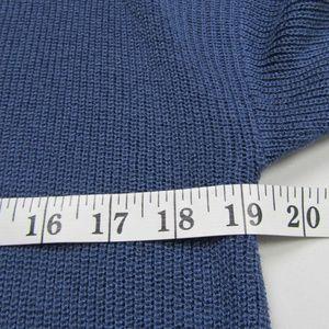 INC International Concepts Sweaters - INC Intl Concepts Blue Plus Sz 0X Grommet Sweater